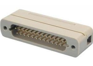 Subminiature D-type Connector, 25 Pins, In-Vacuum, Male Pins