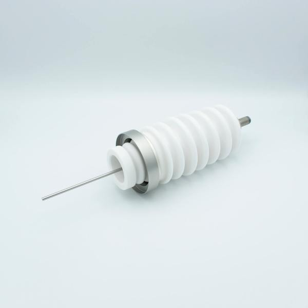 """Power Feedthrough, 60,000 Volts, 6.5 Amps, 1 Pin, 0.156"""" Stainless Steel Conductor, 3.25"""" Dia Stainless Steel Weld Adapter"""