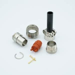 """MPF - A4213-1-CN MS Circular Connector, 2 Pins, 12000 Volts, 7.5 Amps Per Pin, Accepts 0.040"""" Dia. Pins."""