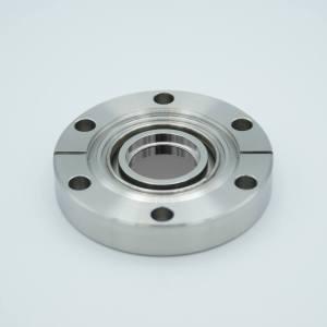 """UHV Viewport, Germanium (Ge), UHV Rated Vacuum-Optics, 0.90"""" View Dia, 2.75"""" Conflat Flange"""