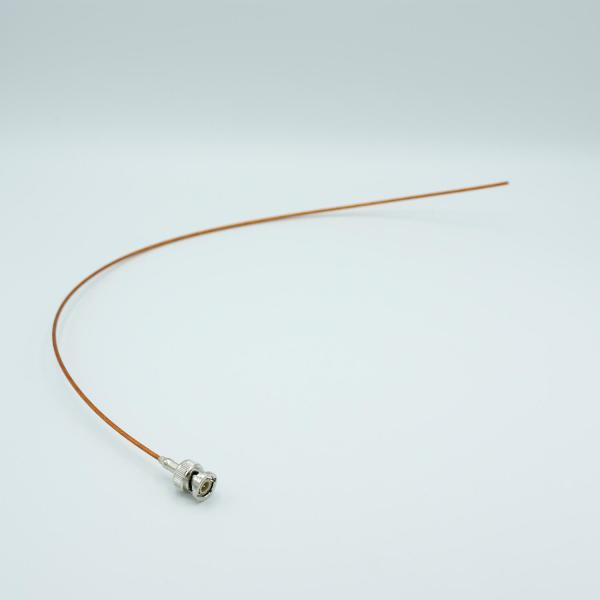 """MPF - A7305-3: Coaxial Cable Assembly, In-Vacuum, BNC Connector, 50 Ohm Coaxial Cable w/ Kapton Insulation, 19"""" Length"""