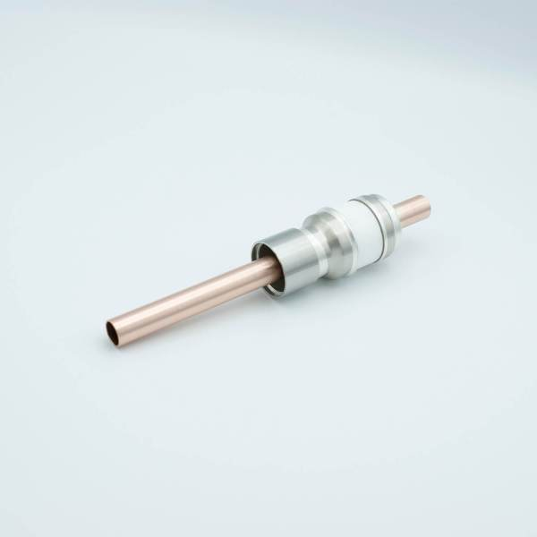 """Power Feedthrough, 8000 Volts, 1 Tube, 0.50"""" Copper Conductor, 1.12"""" Dia Stainless Steel Weld Adapter"""