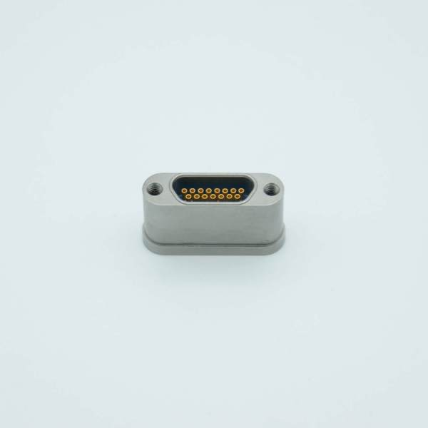 MPF - A8978-2-W: Micro-D type Multipin Feedthrough, 15 Pins, 300 Volts, 3 Amps per pin, Weldable Mount