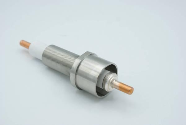 """E-Beam Power Feedthrough, 15,000 Volts, 1 Pin, 1"""" Baseplate Bolt"""
