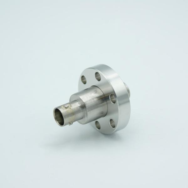 """MPF - A18379-2: Triaxial Coaxial Feedthrough, 1 Pin, Grounded Shield, Double Ended, 1.33"""" Conflat Flange, UHV Compatible, With Air-side Connector"""