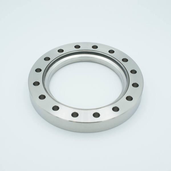 "Laser Grade (DUV) Fused Silica Viewport, Zero Length Profile, 3.88"" View Dia, 6.00"" Conflat Flange"