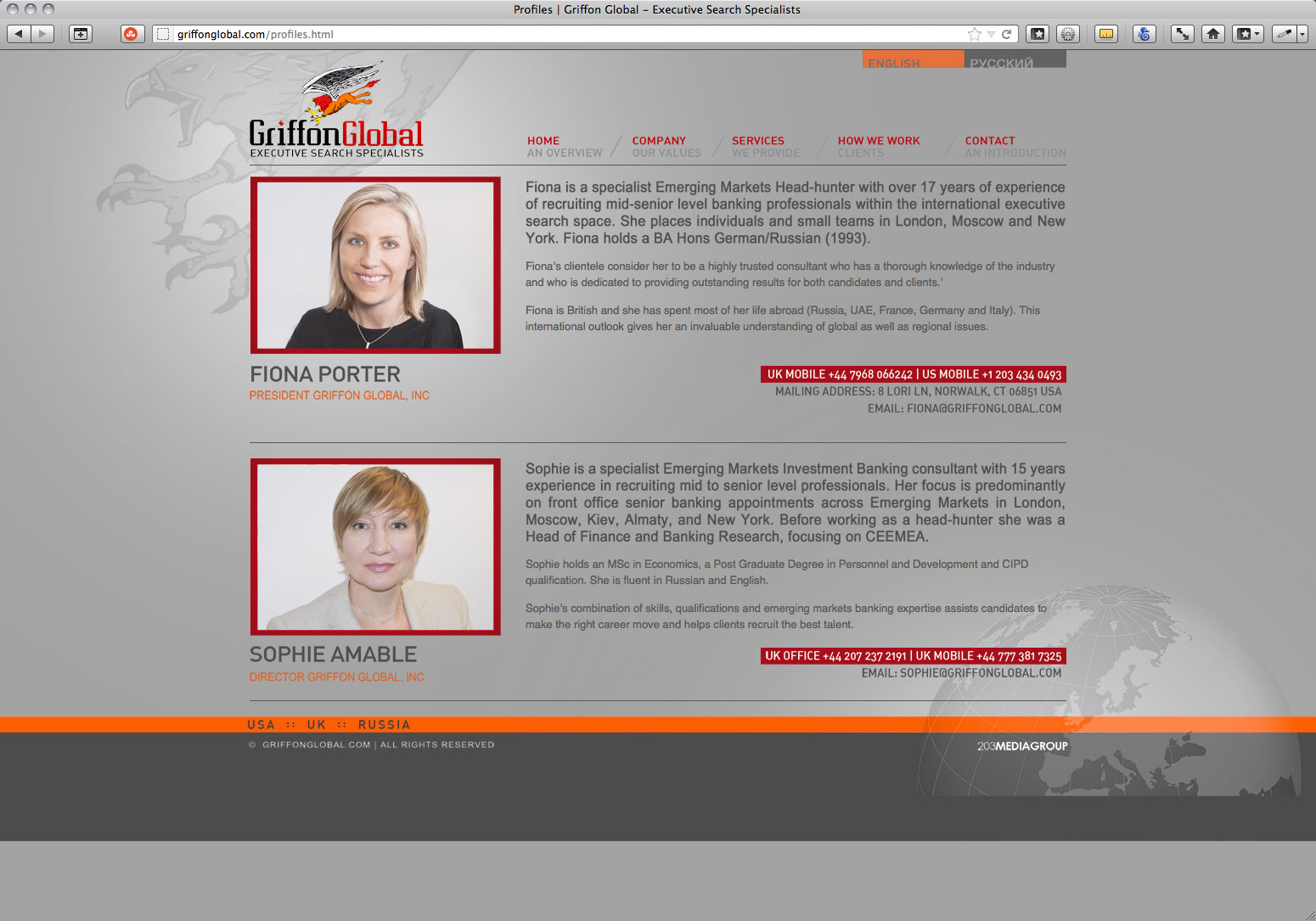 Html Code For Resume Using Css Html Css Griffon Global Michael Peterson