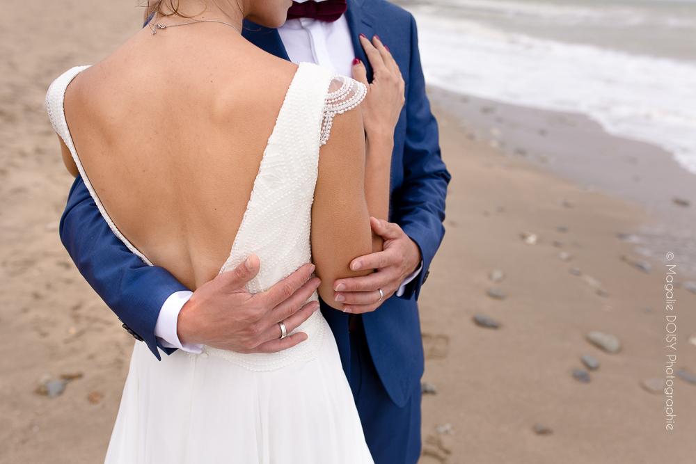 Séance after mariage à la mer Villers sur mer
