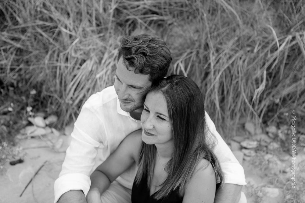 Séance couple engagement Bernières sur Mer