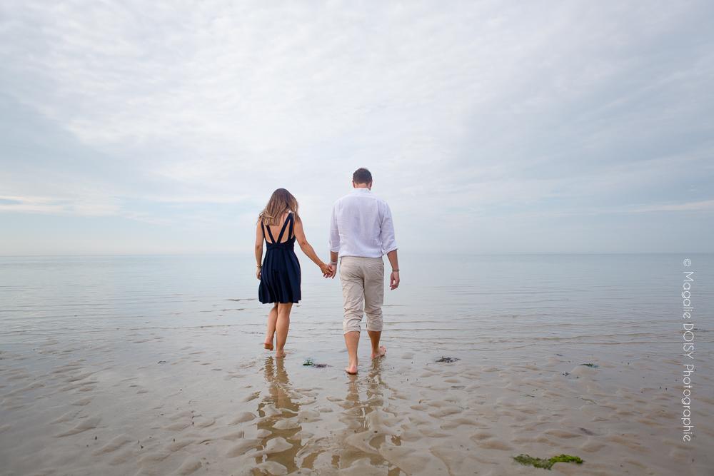 Bernières sur Mer shooting photo couple
