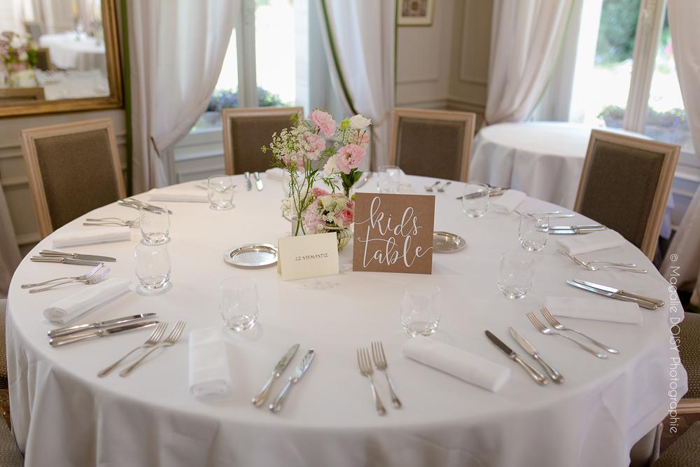 Photo de détail décoration salle des mariages