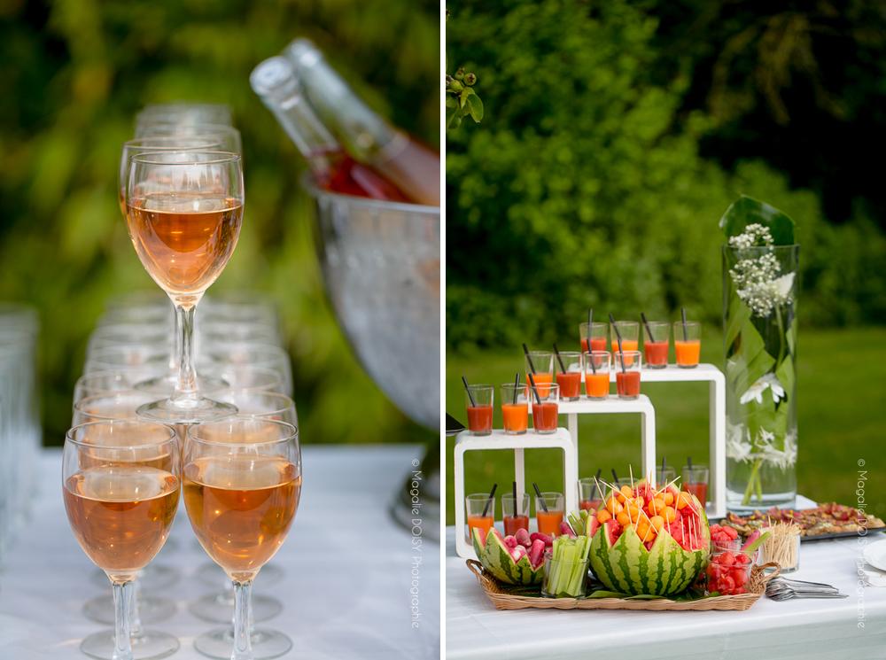 Photo détail cocktail mariage