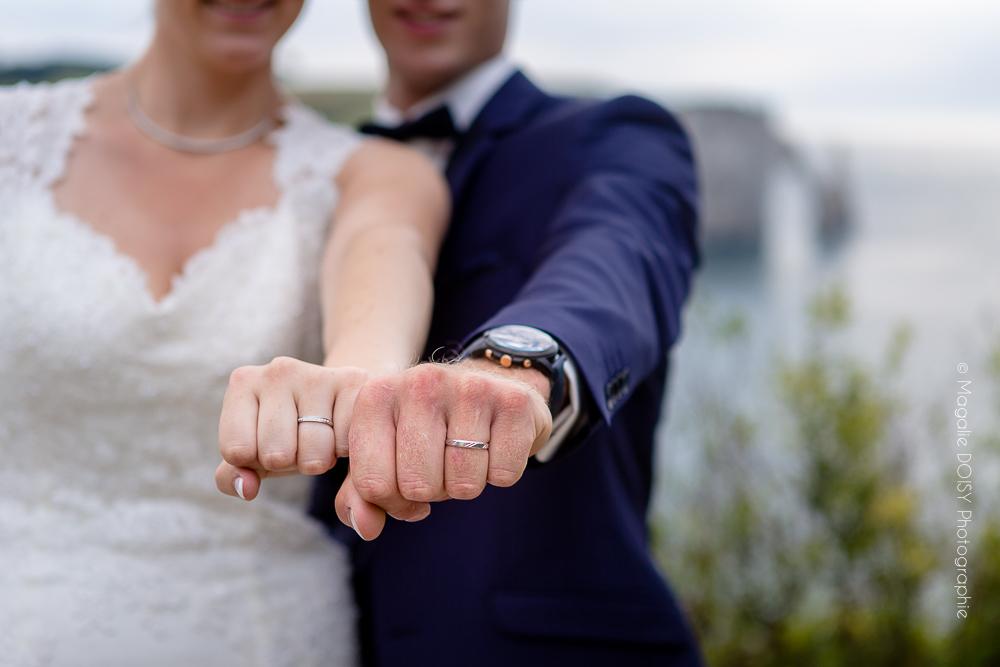 Séance photo couple mariés à Etretat