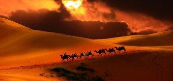 Пески Великой китайской пустыни, как транспортный хаб планеты!