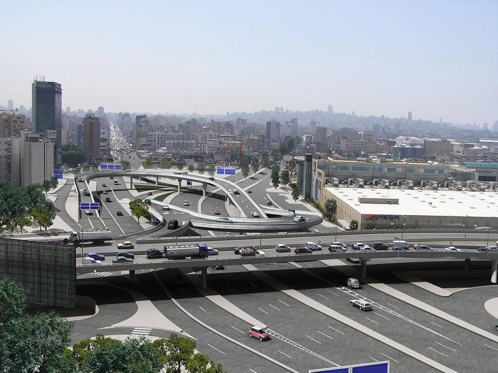 Echangeur autoroutier - Liban