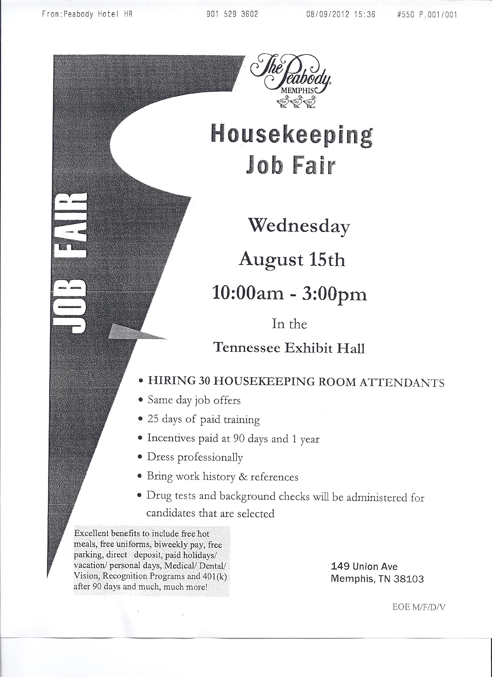Housekeeping Job & Career News From The Memphis Public