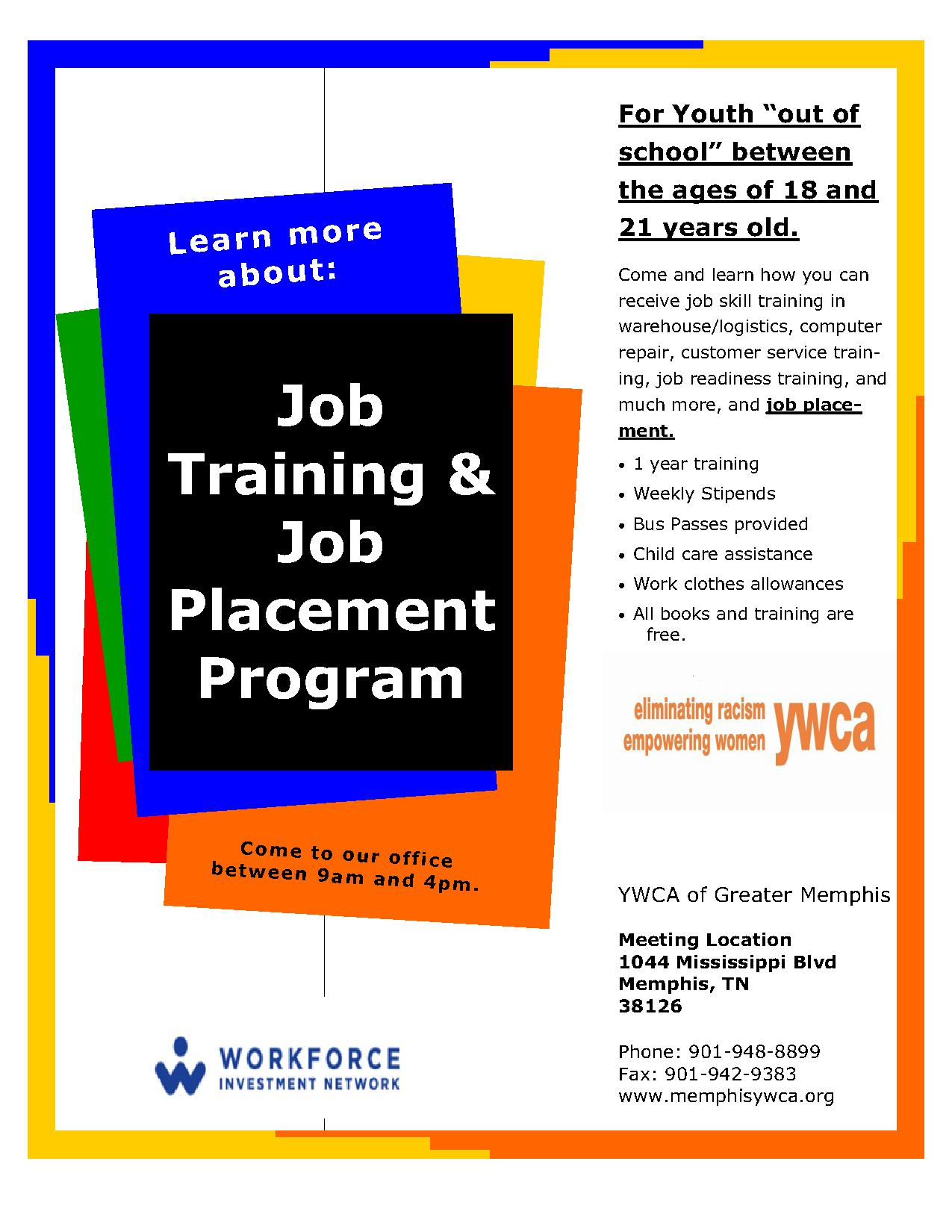 Job Training And Placement For Youth 18 21 YWCA Job