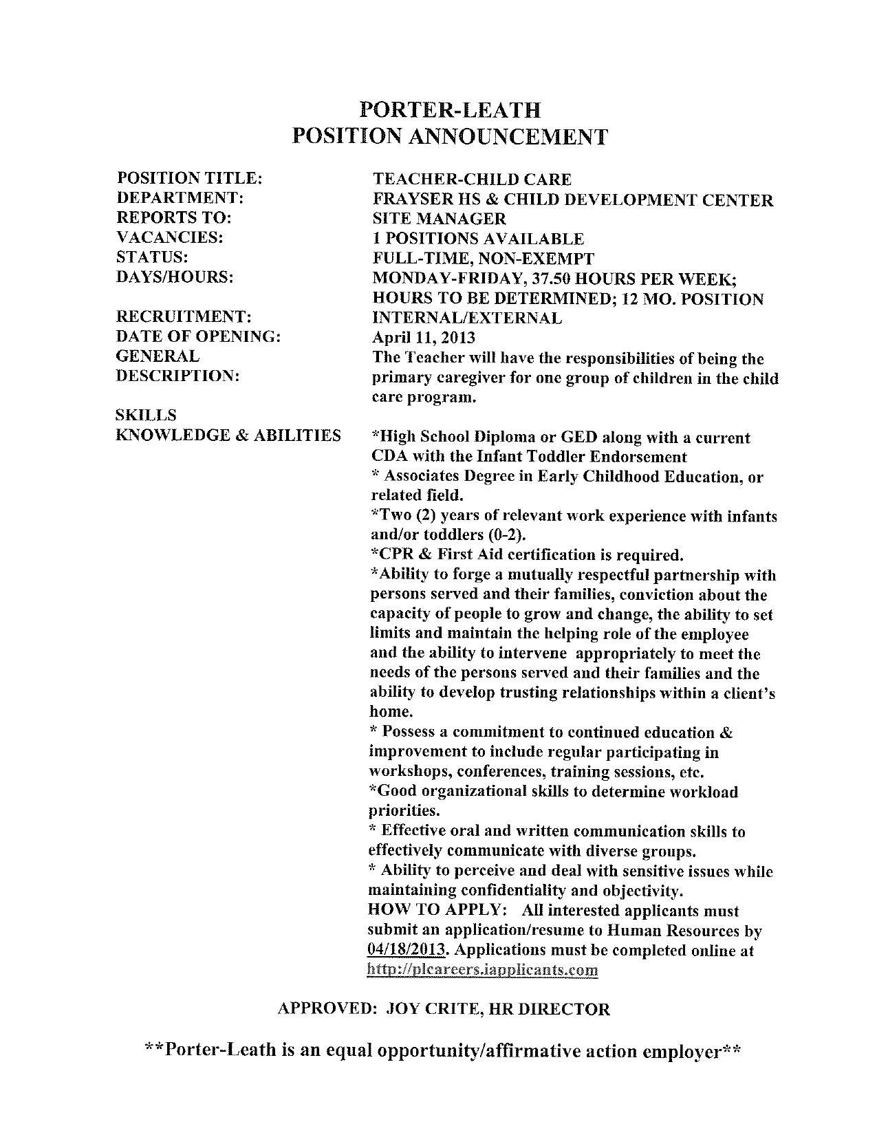 Porter Leath Job & Career News From The Memphis Public