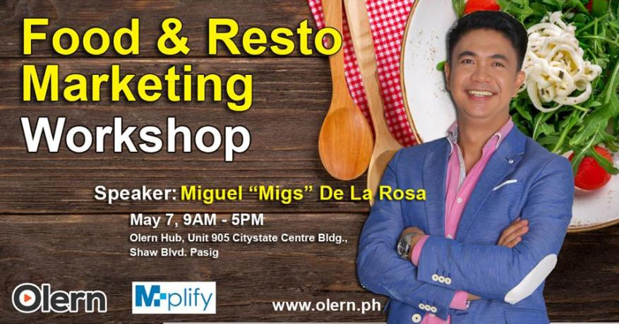 Food and Resto Marketing Workshop May 9