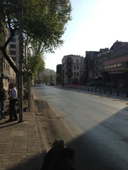 The streets of Istanbul at 8 am