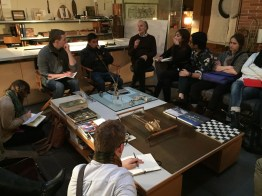 Studio visit to Andrea Ponsi's office