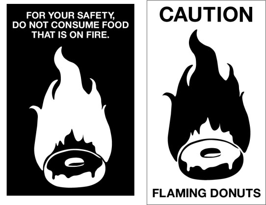 Flaming Donut Sign