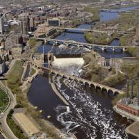 Central Riverfront aerial
