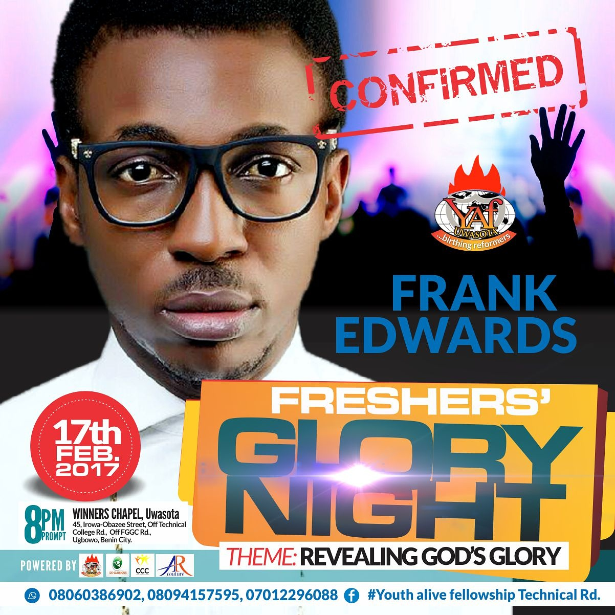 fgn%201 Event: Freshers' Glory Night with Frank Edwards, Ola Samuel and More
