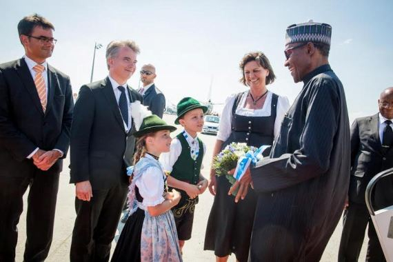 01 President Buhari Arrives Germany For G7 Summit | Photos