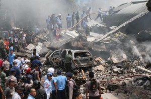 k18-300x196 Indonesian Military Plane Crashes Into Residential Area leaving Atleast 100 Dead
