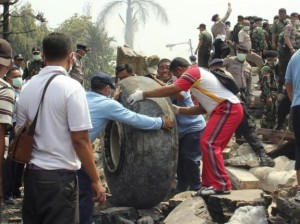 k48-300x224 Indonesian Military Plane Crashes Into Residential Area leaving Atleast 100 Dead