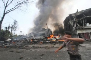 k63-300x200 Indonesian Military Plane Crashes Into Residential Area leaving Atleast 100 Dead