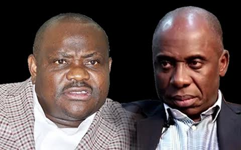 """wike-amaechi """"Buhari Should Probe Amaechi's Government If He is Sincere in His Fight Against Corruption"""" - Wike"""