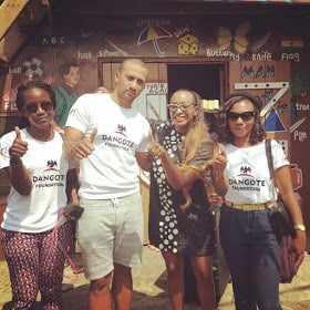 IMG_0543 Femi Otedola's Daughter, Dj Cuppy Spotted on Okada in Ghana