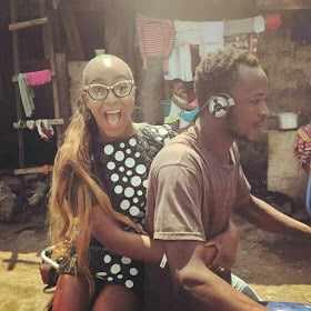 IMG_0544 Femi Otedola's Daughter, Dj Cuppy Spotted on Okada in Ghana