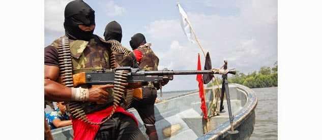 NIGER-DELTA-MILITANTS-ON-SEA Amnesty Office Starts to Pay Ex-Militants Their Allowances