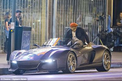 chris4 Chris Brown Flaunts His 200k Rezvani Beast Sports Car   Photos