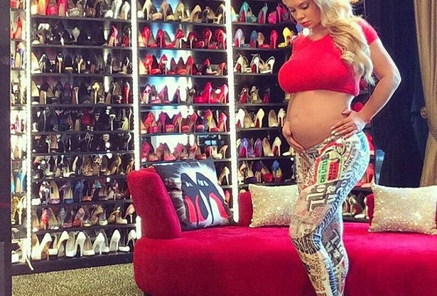 Coco Shows Bare Baby Bump and Shoe Closet