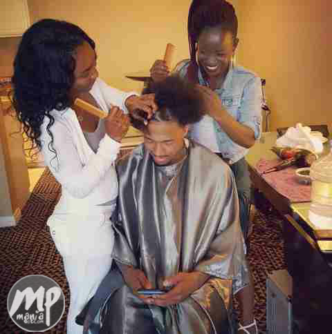 wp-1470246966793-1 Nick Cannon's new girlfriend Chili performs hairdresser role (Photo)