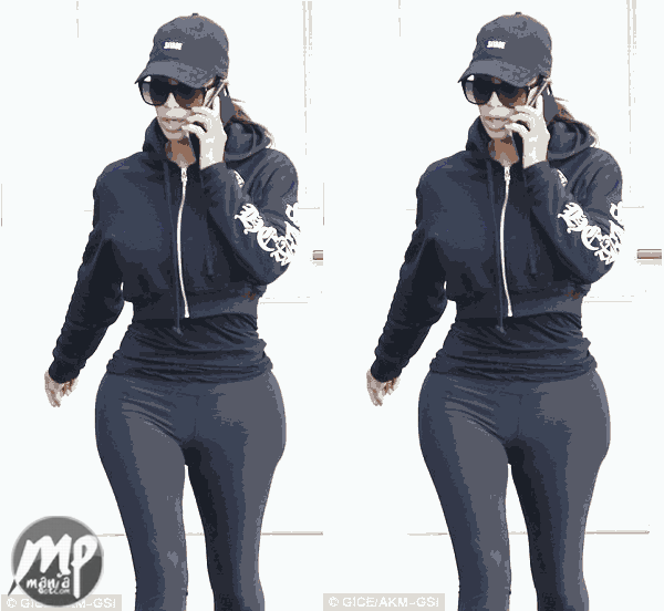 wp-1471156852575-1 Kim Kardashian looking incredibly thinner as she rocked in leggings
