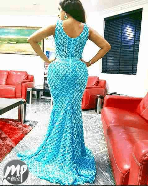 wp-1471241097863-1 Juliet Ibrahim shows off her huge backside in beautiful blue dress (Photo)