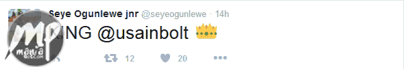 wp-1471283528504-2-1 See how Nigeria's fastest man Seye Ogunlewe congratulated Usain Bolt