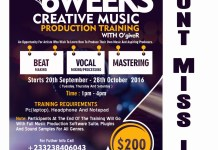 AFADA Presents 6 Weeks Creative Music Production Training With O'giveR