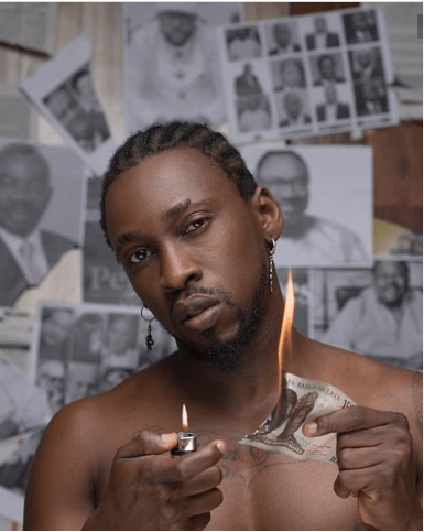 Fans React to Orezi Burning a N1000 Note on His Album Art (Photos)