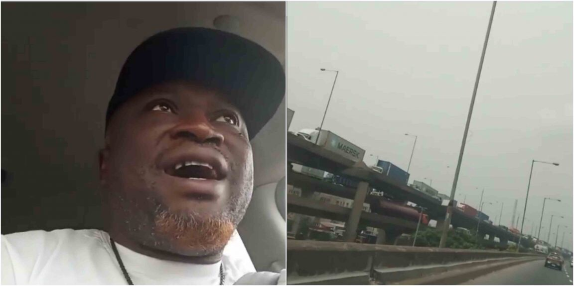Femi Branch reacts as Trucks miraculously re-appear on Lagos bridges after Buhari's Visit