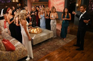 Peter Weber with some of the contestants on 'The Bachelor.' ABC/John Fleenor