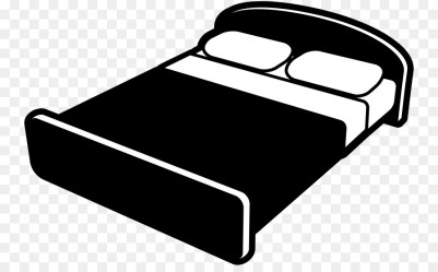 Cartoon Black And White Bed Clipart 1