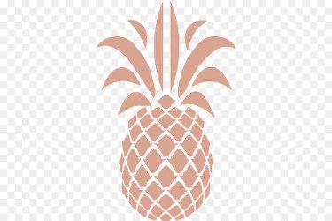 Stencil Pineapple Outline 3