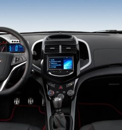 new chevrolet sonic interior features [ 1600 x 900 Pixel ]