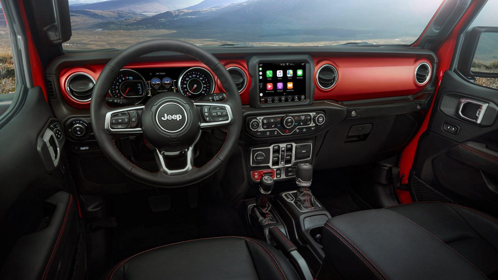 hight resolution of jeep gladiator pickup interior info
